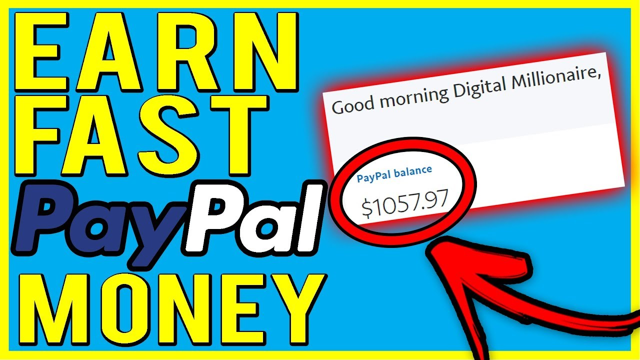 Make Money Online FAST | 5 Sites to Earn FAST & FREE PayPal Money