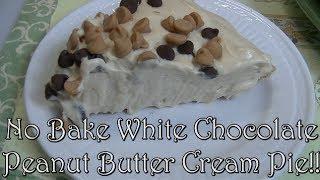 No Bake White Chocolate Peanut Butter Cream Pie!! Noreen&#39s Kitchen