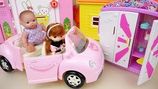 Baby doll car toy and closet surprise eggs toys play