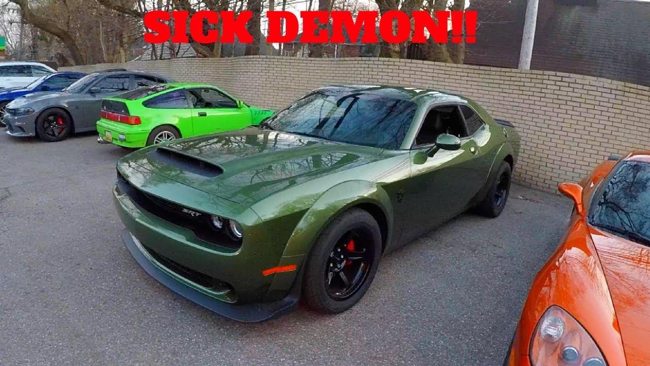 Dodge Demon Colors >> RARE DODGE DEMON COLOR! F8 GREEN - YouTube