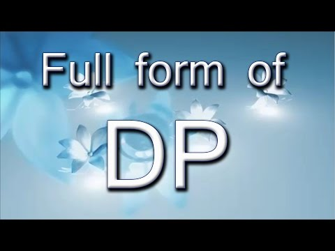 Full Form Of DP