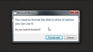 Fix your format now error for Harddisk, SDcard Pendrives....