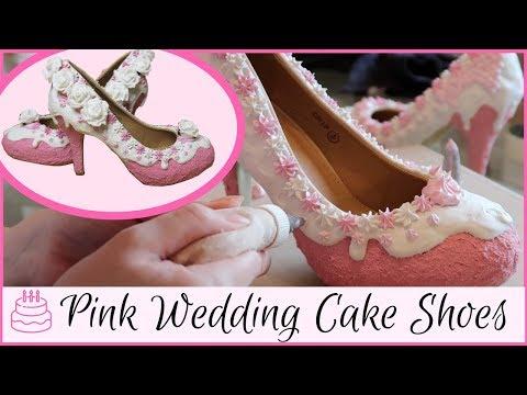 how-i-make-wedding-cake-shoes-|-diy-icecream-and-cake-shoes