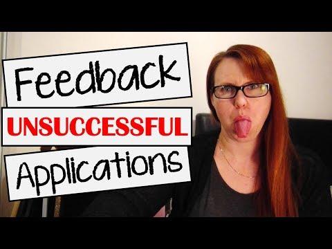 Unsuccessful Job Applications | Getting Feedback