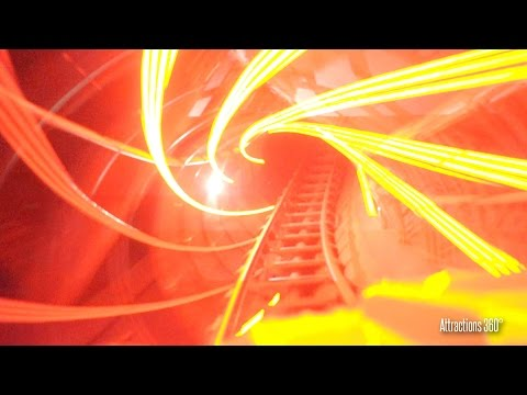 [4K] Disneyland Paris Space Mountain with Loops - Low-Light Ride-through