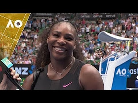 SERENA WILLIAMS On Court FULL INTERVIEW After WIN Against VENUS Australia Open FINAL 2017
