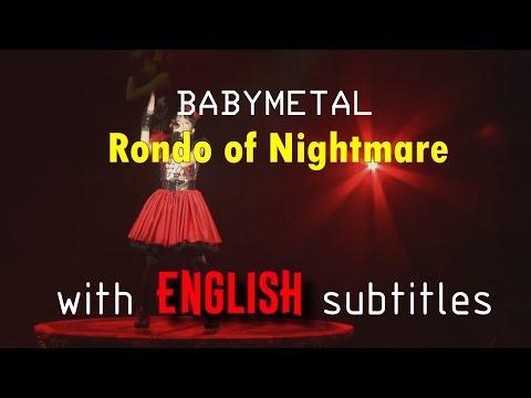 BABYMETAL - Rondo of Nightmare [English subtitles] | Budokan Black Night