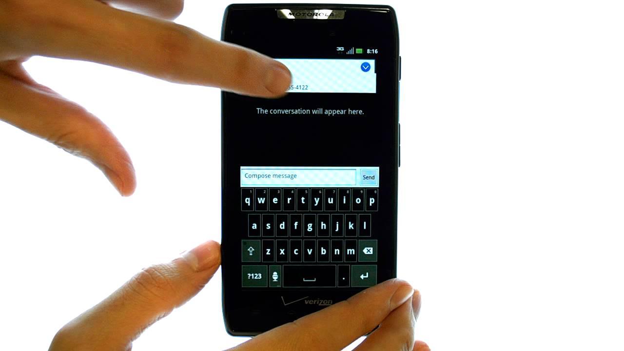 How Do I Send A Text Message With My Motorola Droid Razr Or Razr Maxx?