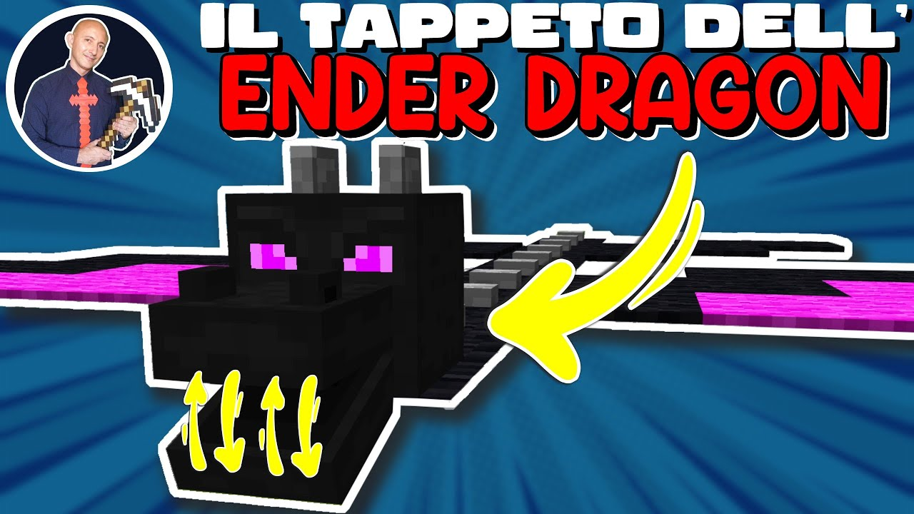 COME FARE IL TAPPETO DELL ENDER DRAGON SU MINECRAFT (PS4 SWITCH XBOX PE JAVA BEDROCK PS5)