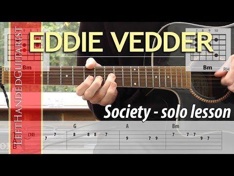 Solo Eddie Vedder Society Guitar Solo Lesson Youtube