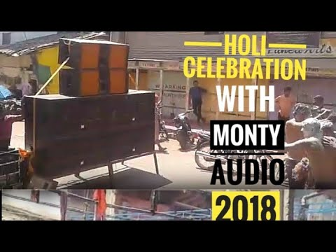 2018 Holi celebration with Monty audio sound@ Mense galli belgaum