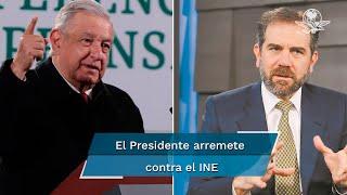 En su conferencia de prensa, en Palacio Nacional, el presidente López Obrador fue cuestionado si consideraba que el INE es un órgano autónomo e independiente.