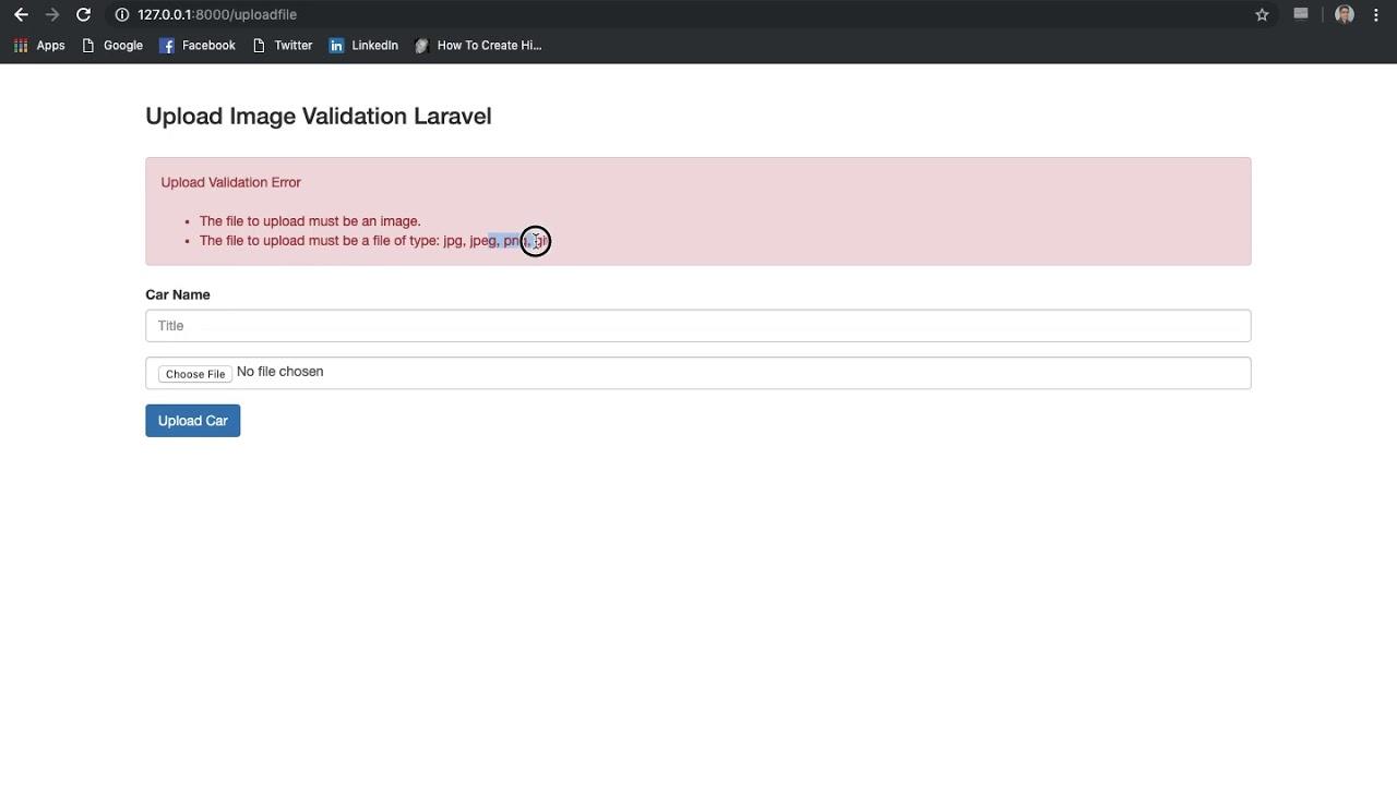 Laravel Image Upload Validation Tutorial Example Validate