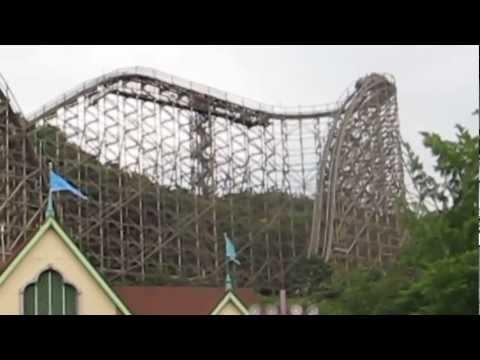 T Express - Wooden Roller Coaster POV Everland South Korea