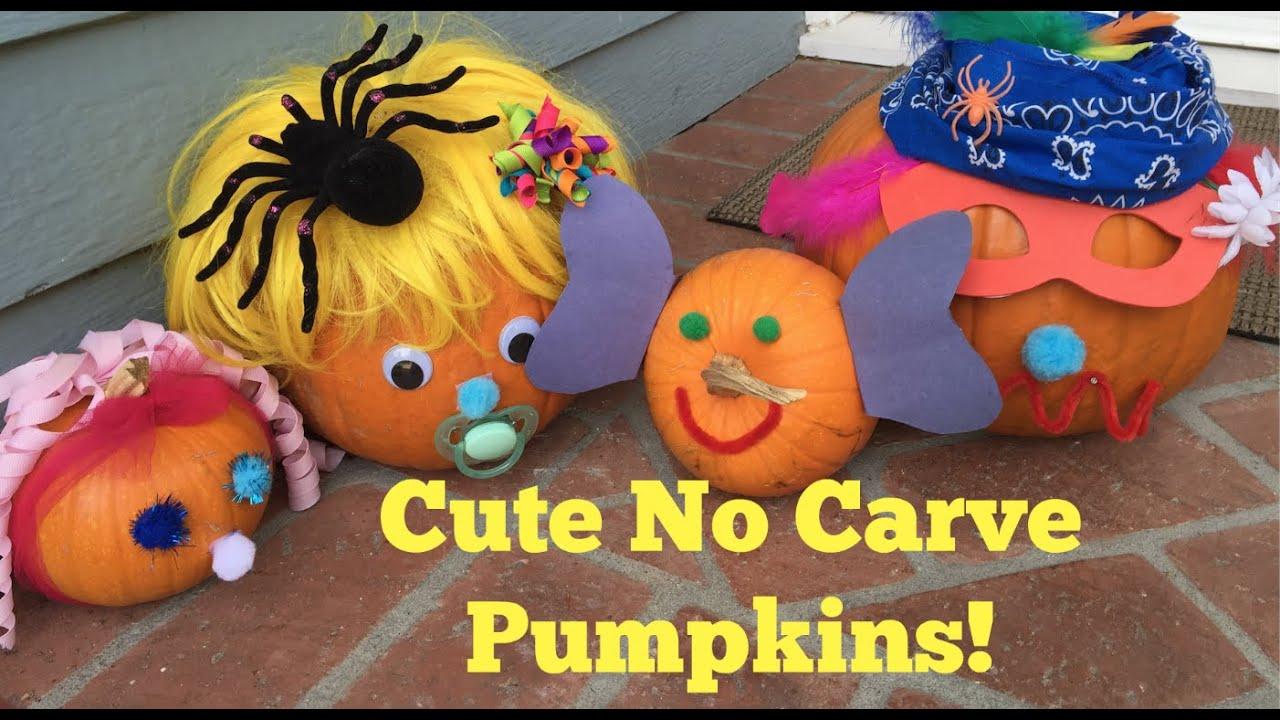 Easy No Carve Pumpkins For Kids Youtube