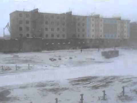 PEVEK Певек - Россия - Nevasca Com Ventos Fortes