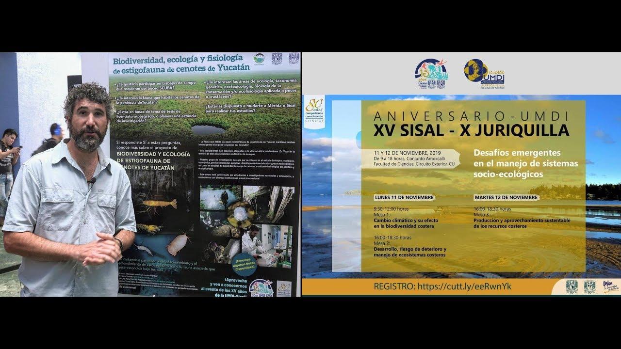 Biodiversidad, ecología y fisiología de estigofauna de cenotes de Yucatán (Nuno Simões)