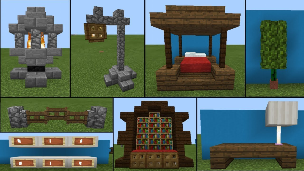30 Decoration Ideas & Furniture Designs - Minecraft Pe ...