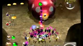 Empress bulblax fight in pikmin 2 with babies.