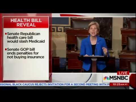 Sen. Elizabeth Warren excoriates GOP Senate health care repeal bill