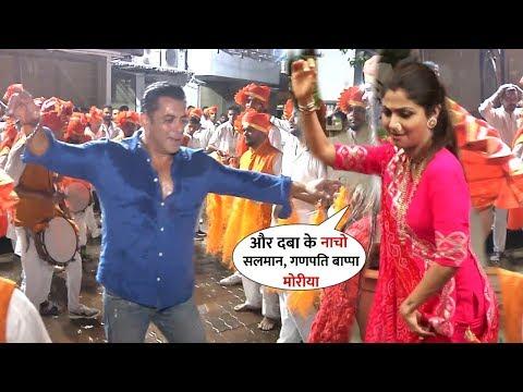 Salman Khan and Shilpa Shetty Crazy Dance at Ganpati Visarjan 2019 on Mumbai Road | Many Celebs Mp3