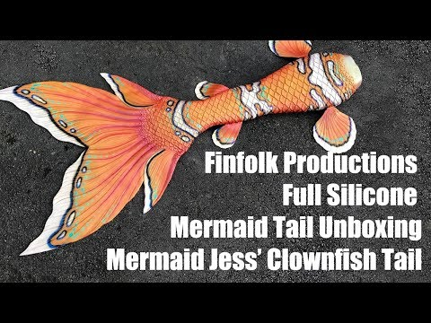 Clownfish Mermaid Tail?! Unboxing Finfolk Tails!