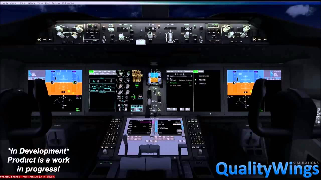 QualityWings 787 The night cockpit by Real Aviation and Flight Simulator`s