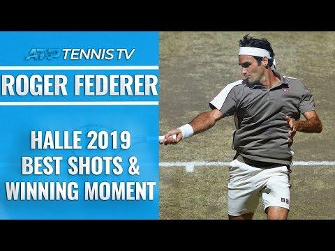 Best Roger Federer Shots And Winning Moment | Halle 2019