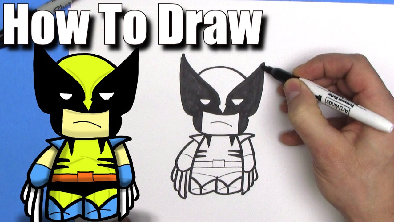 How To Draw Wolverine Easy Chibi Step By Step Kawaii