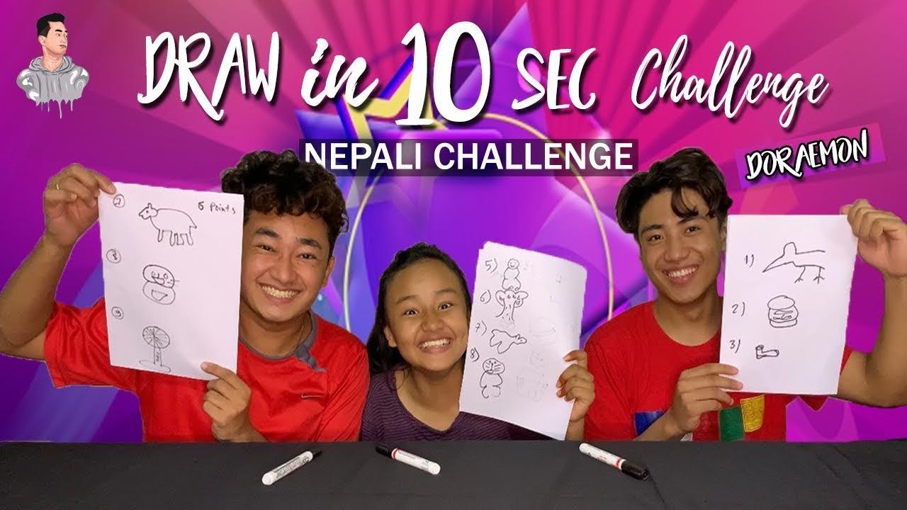 Draw In 10 Second Challenge || Doraemon Vlogs || Sagar Tamang