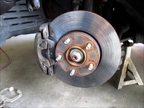 changing front brake pads on a mazda 3 -