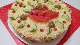 "Салат Русская красавица  ОЧЕНЬ ВКУСНО! // Salad ""Russian Beauty"" Delicious!"