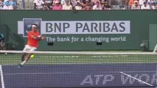 Roger Federer Hot Shot Indian Wells Final 2015 v. Djokovic
