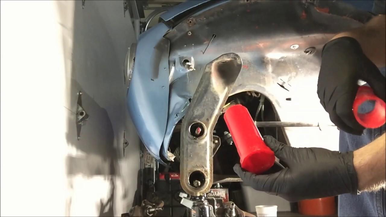 vw bug polyurethane beam bushing replacement on the 68 VolksRod