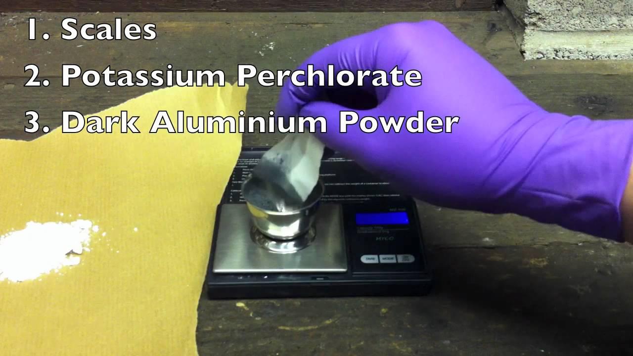 How to Make Super Powerful Flash Powder (KCLO4/AL)