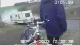 """The moral is """"don't tow a large caravan up a steep hill in a small ..."""