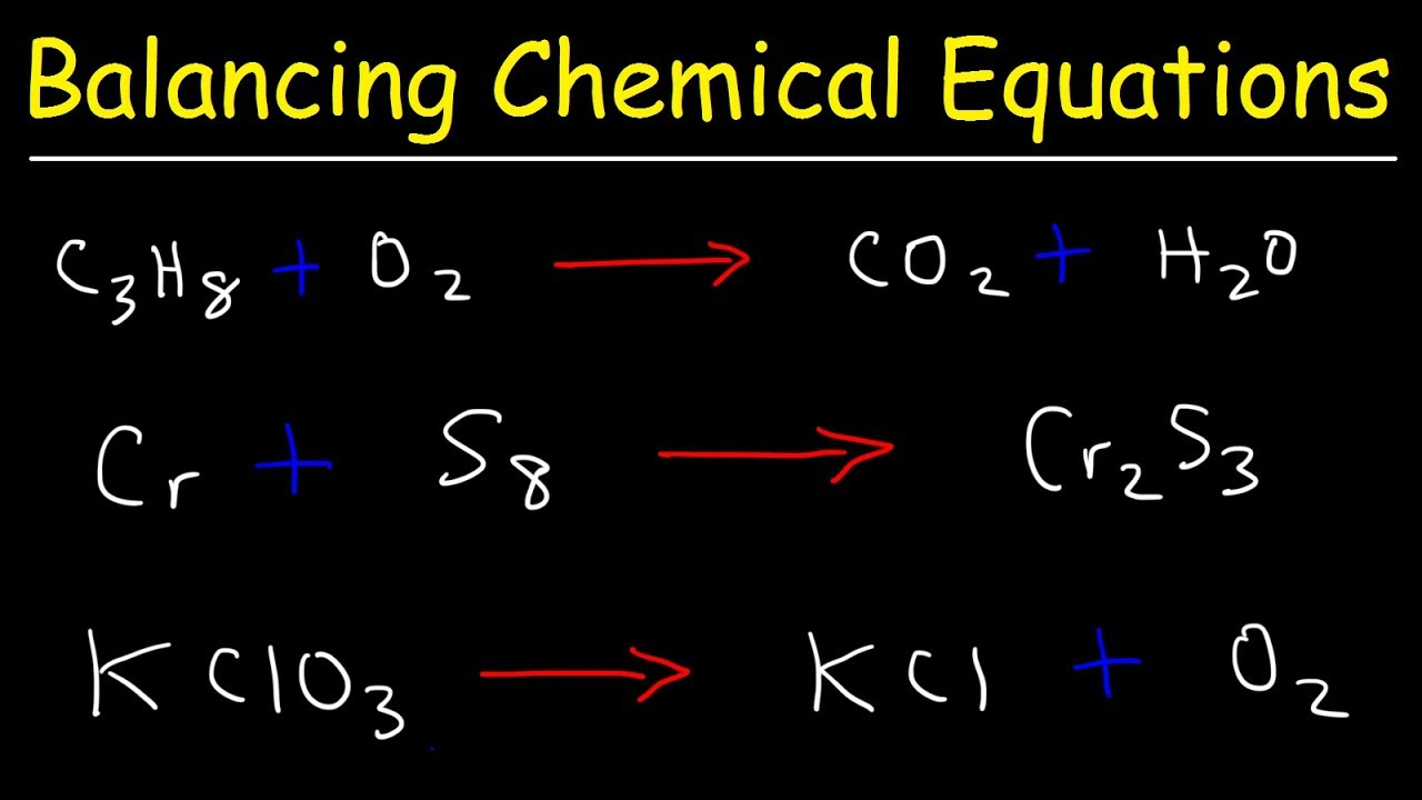 hight resolution of How To Balance Chemical Equations - YouTube
