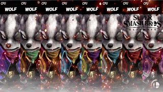 Super Smash Bros Ultimate All Wolf Costume Gameplay!