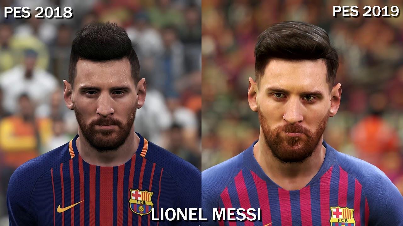 PES 2019 vs PES 2018 - Players Faces Comparison