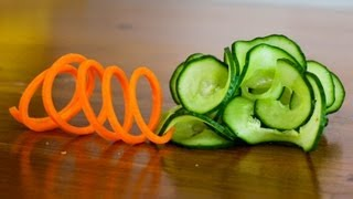How to Make a Carrot Slinky and Cucumber...