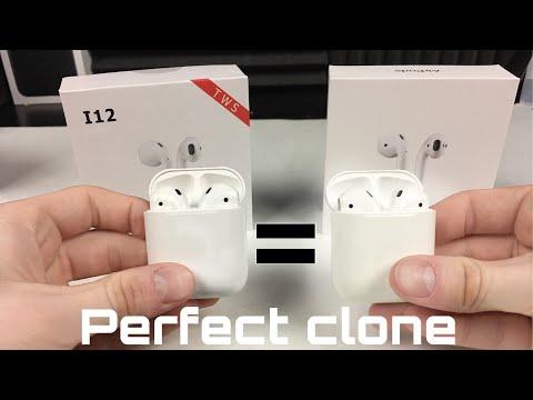 I12-Tws Vs Airpods - Perfect Clone