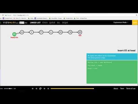Algorithm : lesson2:Sorting Algorithms (2.6 การใช้งานLinked List) ตัวอย่างData Structureและการใช้งาน