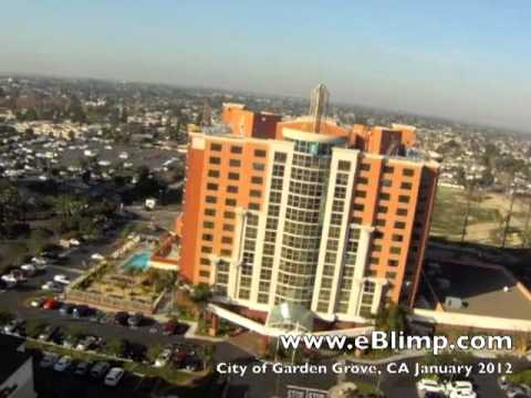 Garden Grove Hotels Aerial video by eBlimp