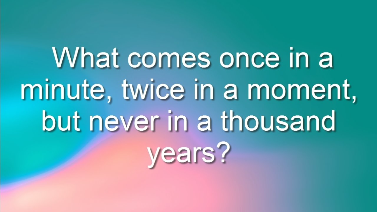 5 Tricky Riddles That Will Make You Think Youtube