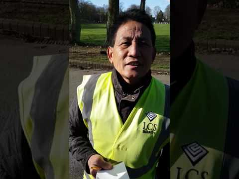 Security guard from LCS SECURITY ltd Finchley refusing to show SIA licence