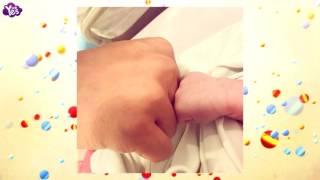 黃曉明公佈與兒子 對拳 照 baby的baby叫小海綿