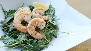 Lemon-Garlic Shrimp and Caramelized Onion Kale Salad
