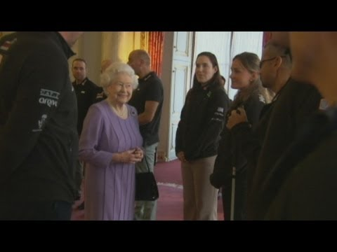 Queen Meets Prince Harry's Walking With The Wounded Team Before Race To Antarctic, South Pole