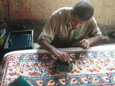 woodblock printing at Manav Seva Sannidhi in Pilkhua Uttar Pradesh, India