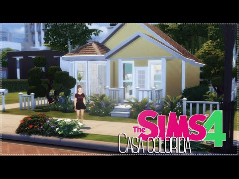 The sims 4 casa colorida youtube Casas modernas sims 4 paso a paso